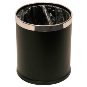 9 Litre Black Powder Coated Fixed Bezel Bin