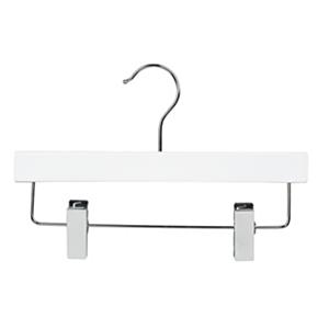 White and Chrome Hooked Hanger Inc Chrome Skirt Clip